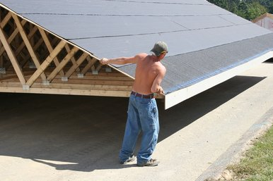 This is a picture of a new roof installation.
